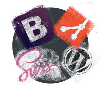 Developer tools - Sass, Bootstrap, Git, Wordpress