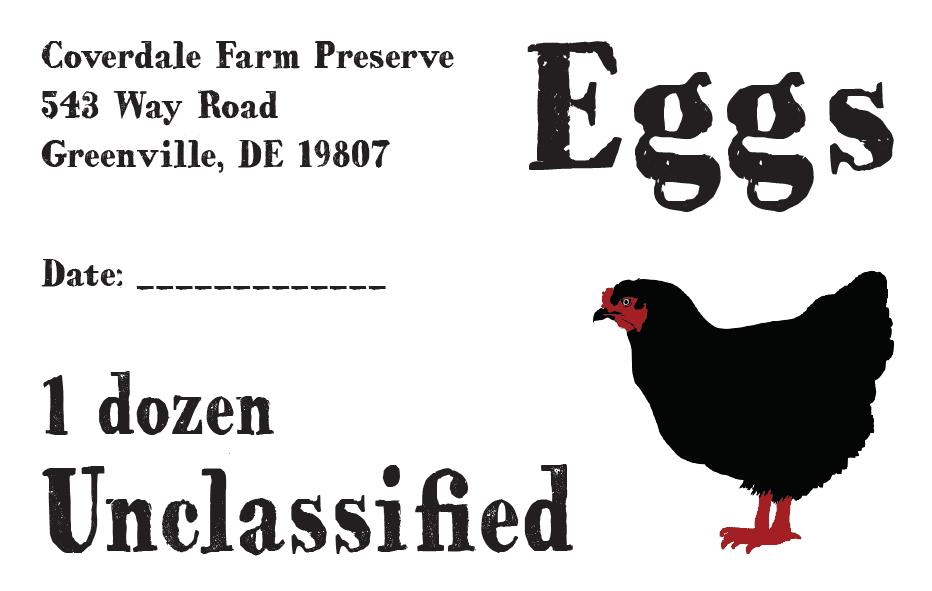 Coverdale Farm Eggs Sticker