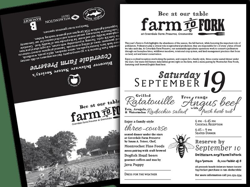 Farm to Fork Fundraising Event Invitation