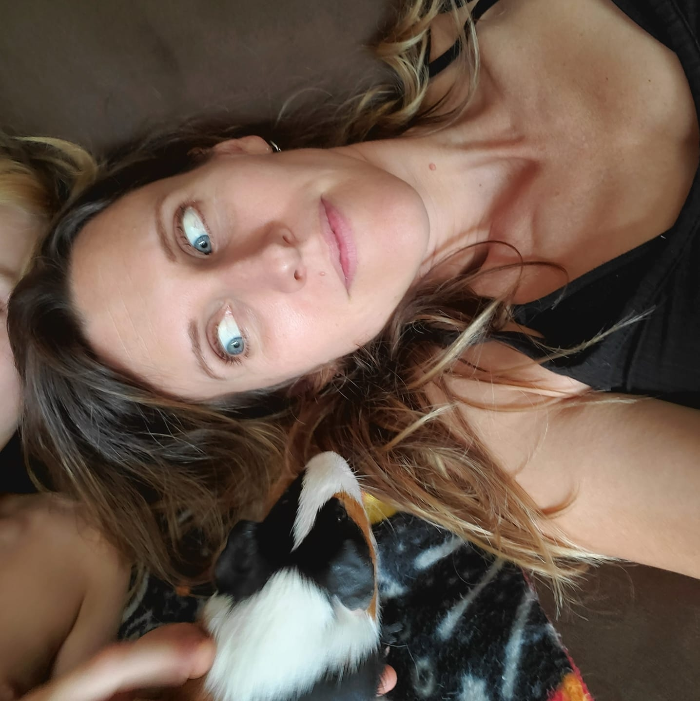 Self Portrait with Guinea Pigs - Photography by Christi Leeson