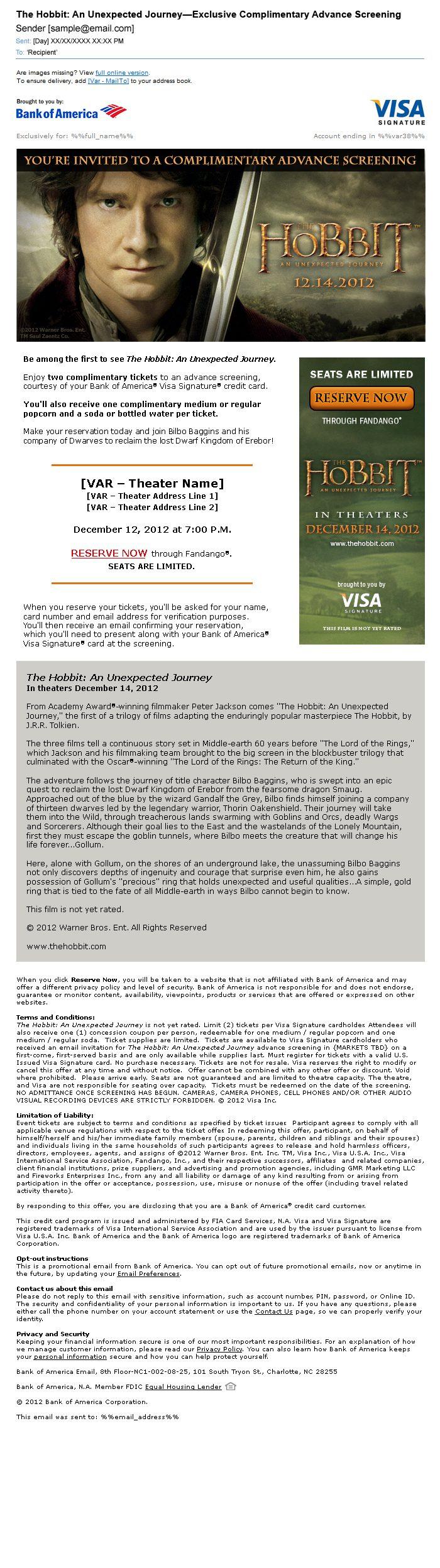 Hobbit Visa Signature Email
