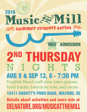 Music at the Mill Logo & Flyer