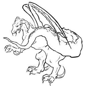 Dragon Ink Drawing